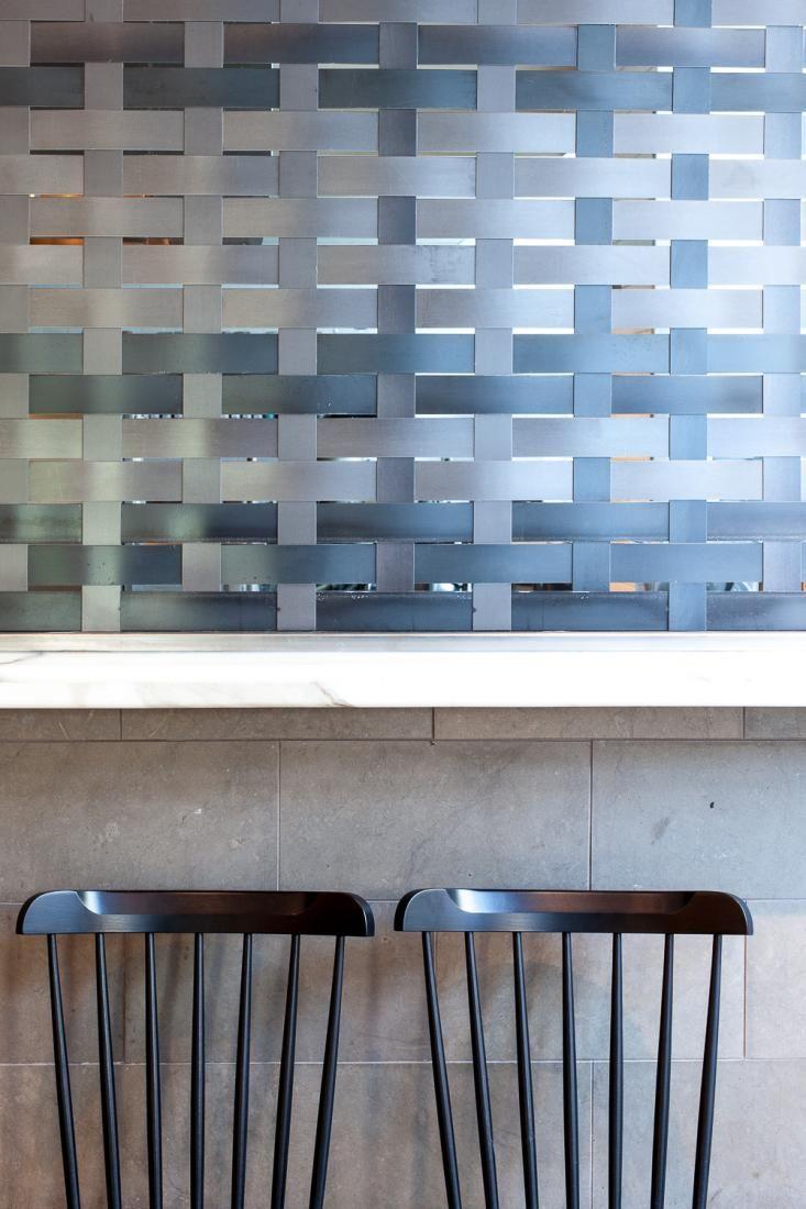 Woven Metal Screen Wall At Hock Farm Restaurant