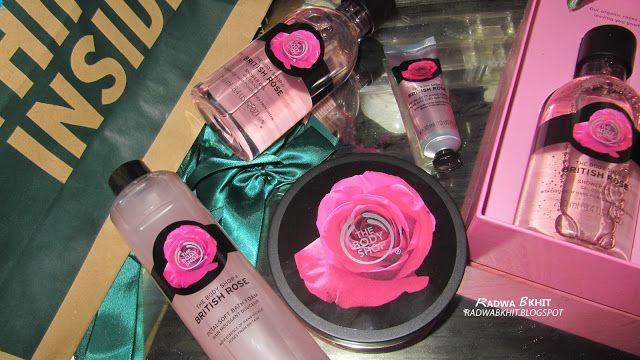 The Gift Box From The Body Shop بوكس الهدايا من ذا بودى شوب بريتش روز Britsh Rose Privew Radwa Bkhit The Body Shop Body Gift Box