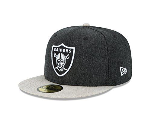 3dab3f53 NFL Oakland Raiders Heather Action 59FIFTY Fitted Cap 7125 Black ...