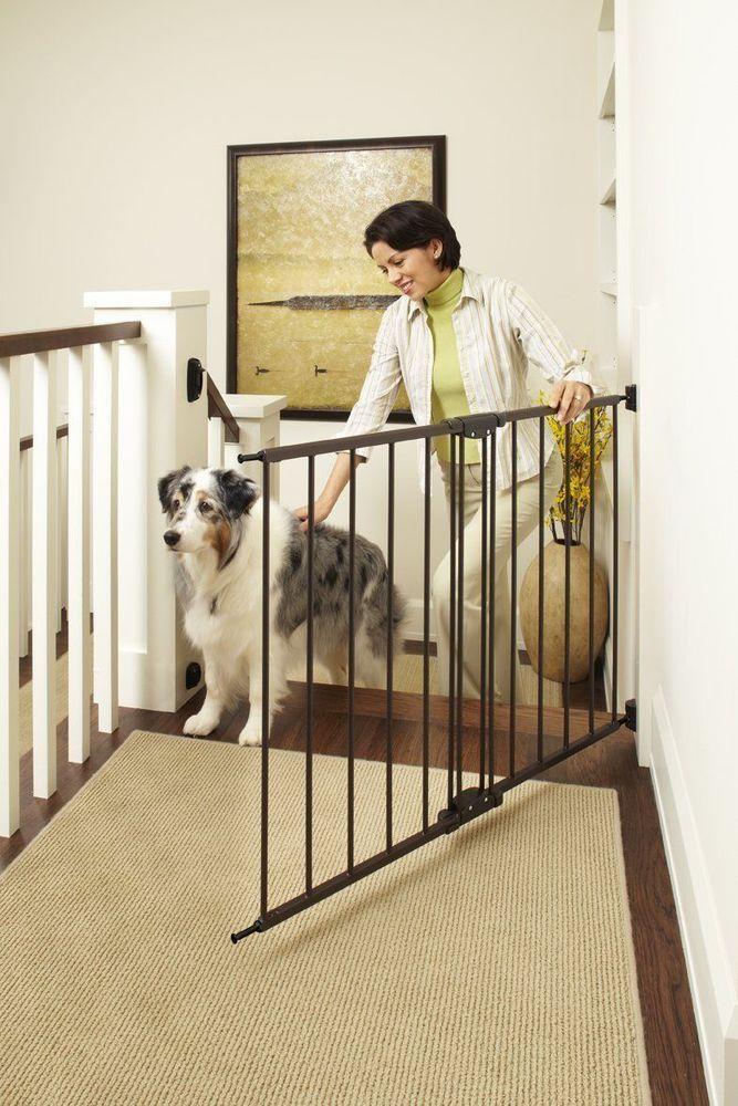 Attrayant Dog Gate Indoor Wide Pet Fence Baby Barrier Adjustable Walk Thru Swinging  Door #NorthStates