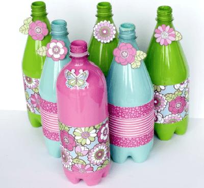 Wonderlijk Hoe werkt #Knutselen met lege plastic flessen? | Plastic flessen UB-48