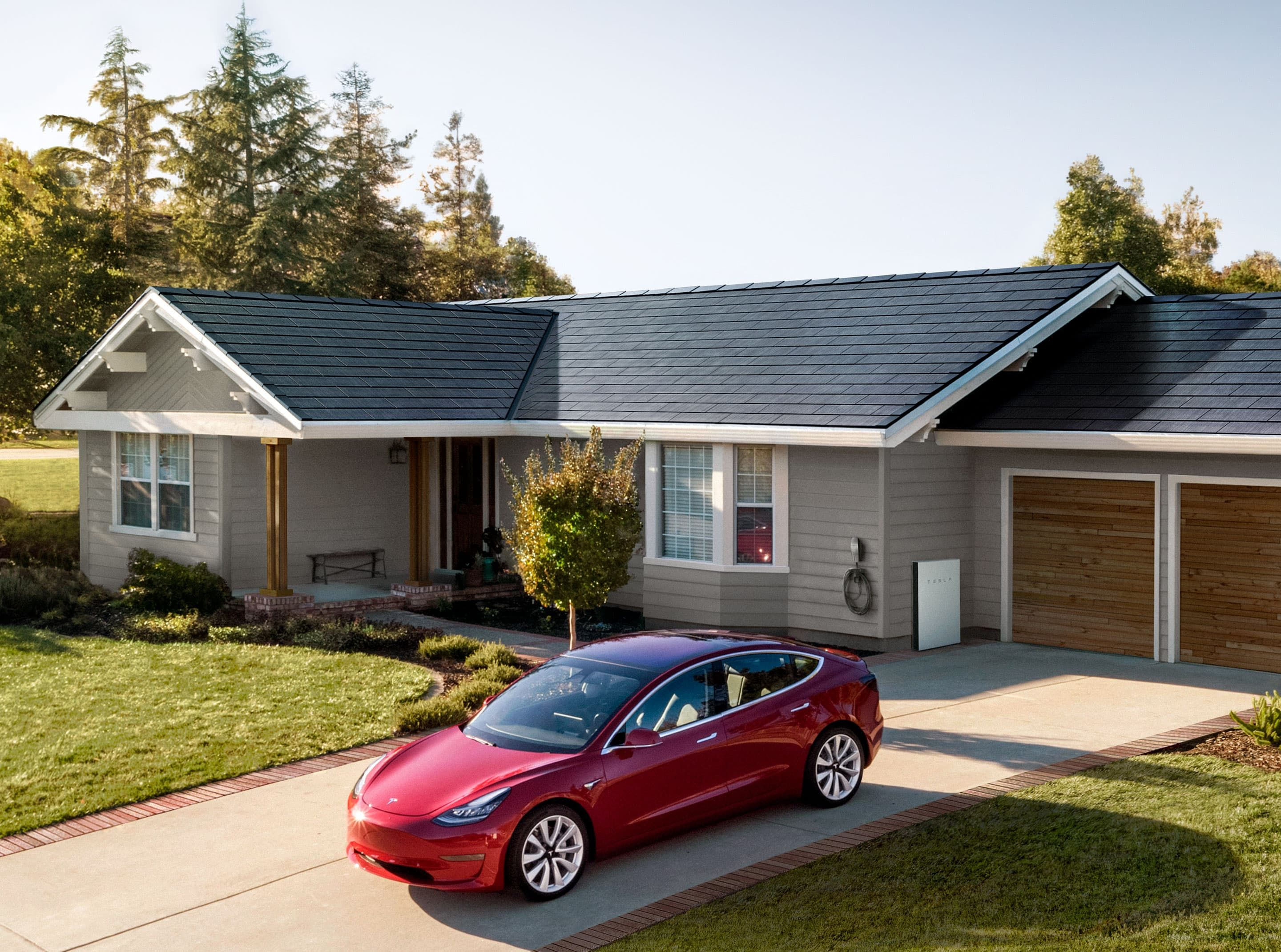Pin By Samuel Warnick On Our House With Images Solar Roof Tiles Tesla Solar Roof Solar Panels Roof