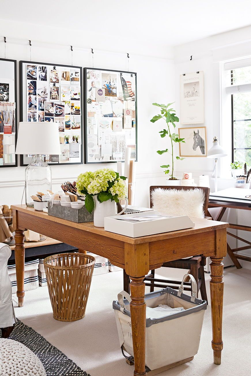 Gorgeous Country-Inspired Home Offices  Dining room office, Home