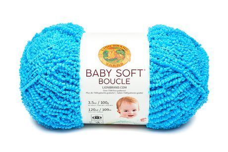 Lion Brand Yarn Baby Soft Boucle Aqua 918-105 Baby Yarn Aqua