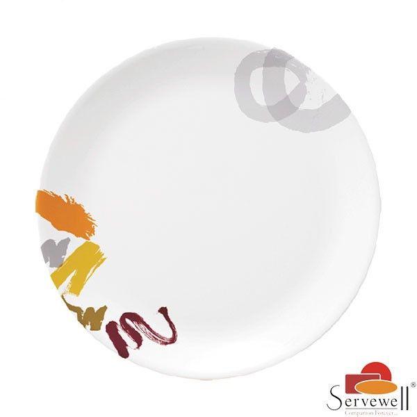 Servewell Side Plates: Buy Servewell Urmi Side Plate 19cm Set Of 6 Pcs - Art Glory Online | Oyekitchen.com