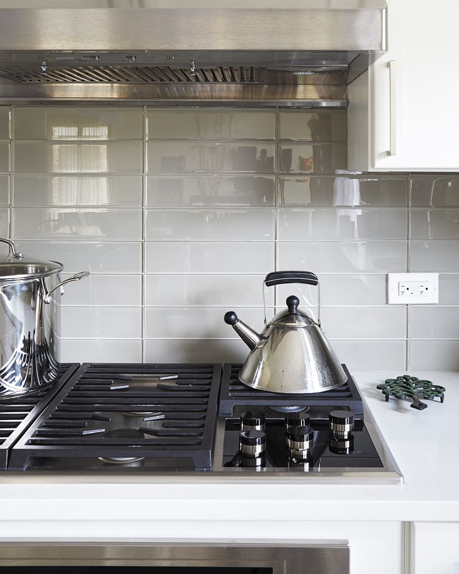 Waterfall Backsplash: Stacked Subway Is A Modern Take On The Traditional 3x6