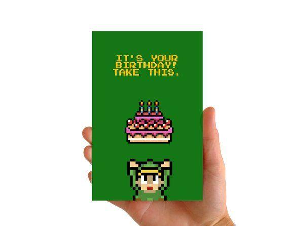 Carte Anniversaire Legend Of Zelda Gateau Anniversaire