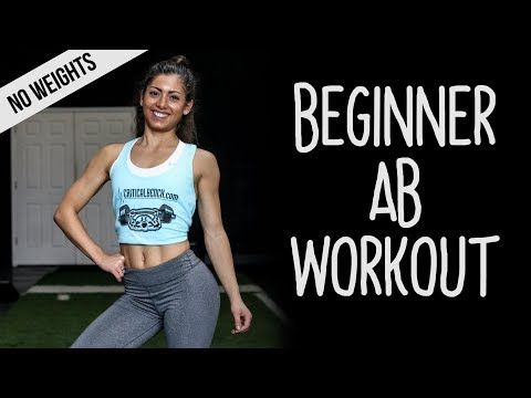 beginner ab workout for women at home  no equipment
