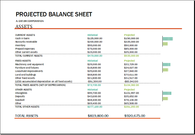 Balance Sheet With Financial Ratios Templates  Download Free