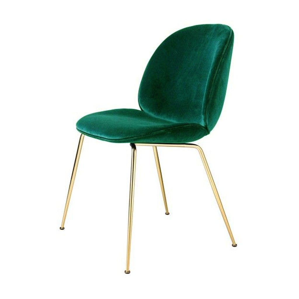 Beetle Dining Chair Green Velvet With Brass Legs Velvet Dining Chairs Gubi Beetle Chair Beetle Chair