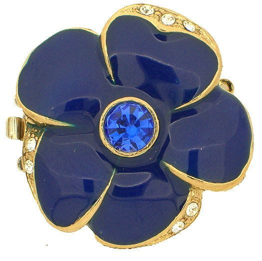 Large ThreeStrand Enamel Flower Clasps in a by GoldenTwinClasps, $24.65
