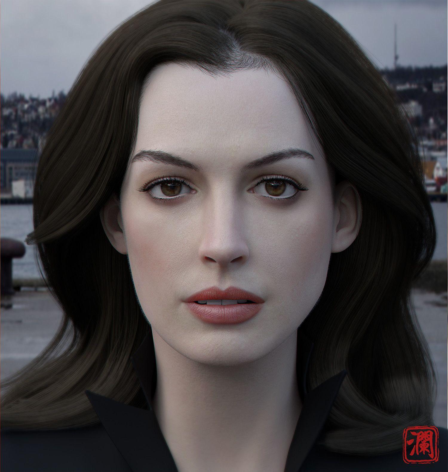 ArtStation - Anne Hathaway, Wang Lanye