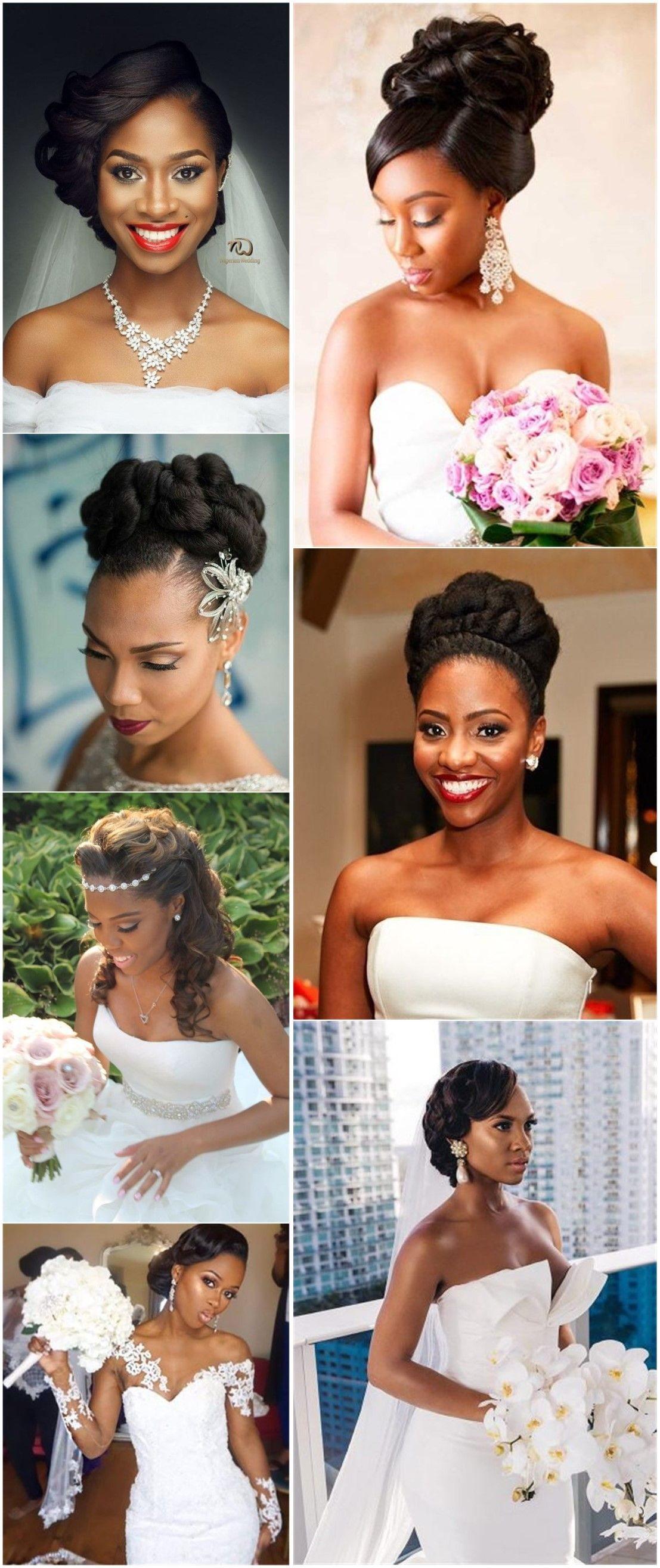20 Wedding Updo Hairstyles For Black Brides Weddinginclude Black Wedding Hairstyles Bride Hairstyles Wedding Hairstyles Updo