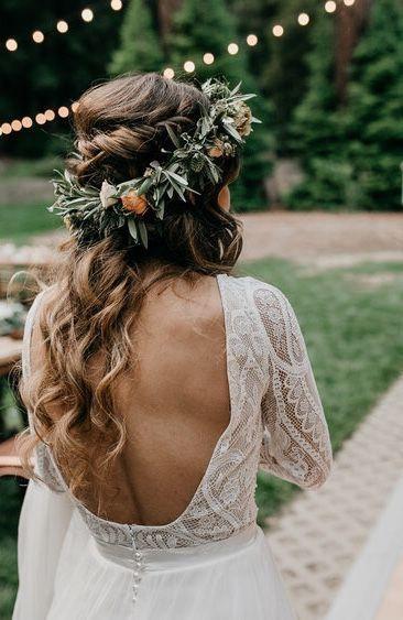 Photo of Boho bride, boho wedding, floral crown for bride, boho wedding themes, garden we …