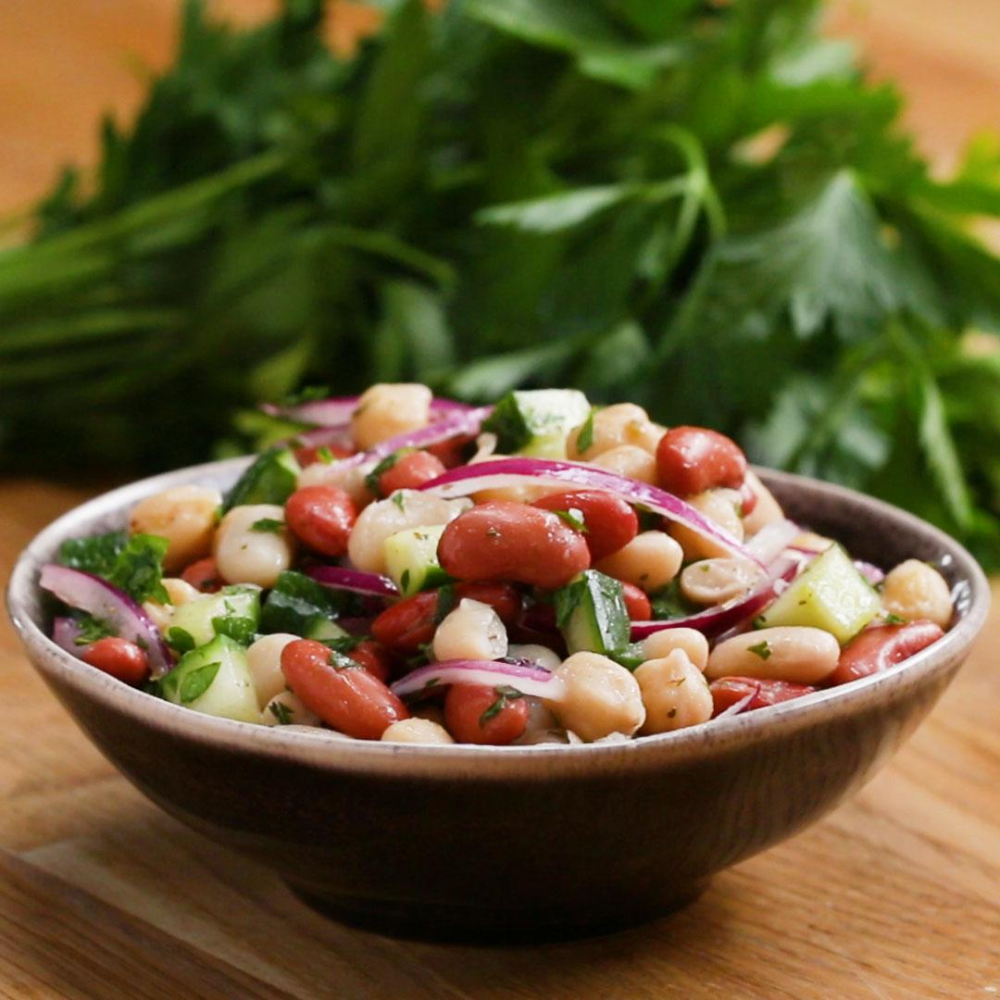 Three Bean Salad Recipe By Tasty Recipe In 2020 Bean Salad Recipes Three Bean Salad Bean Salad