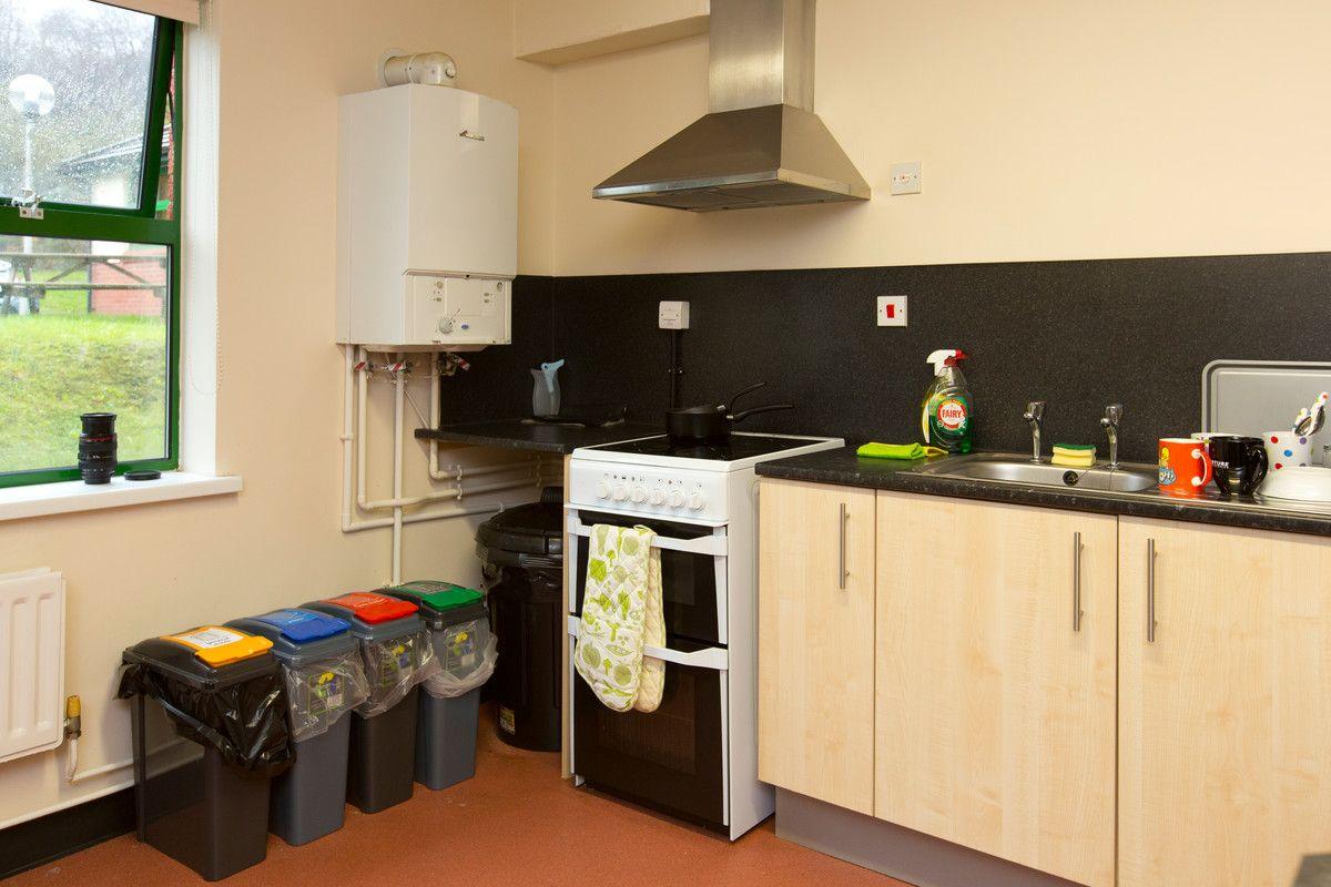 Glamorgan Court: Each Kitchen Has Small Recycling Bins.