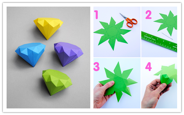 How To Make Cool Diy 3d Paper Diamonds Step By Step Tutorial