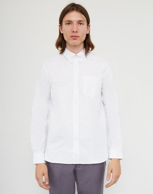 New Mens Fred Perry  Oxford Shirt White  Long sleeve