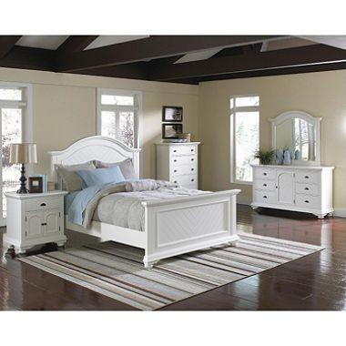 Addison White Bedroom Set   Full   6 Pc.