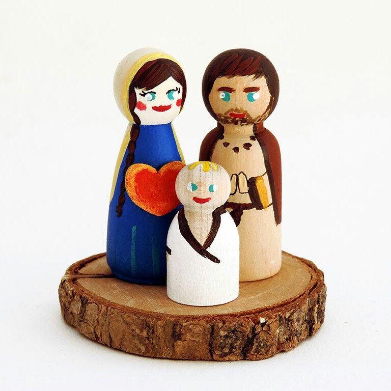 Scène de nativite !!! Família Pinterest Plush, Miniatures and