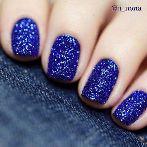 Navy blue glitter nails nails blue glitter nail nail art glitter ...