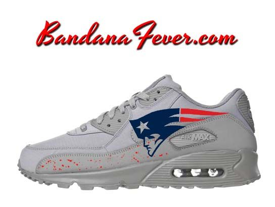 new style 607d7 691a9 Custom Athletics Nike Air Max 90 Shoes Ultra Wolf Grey, by Bandana Fever