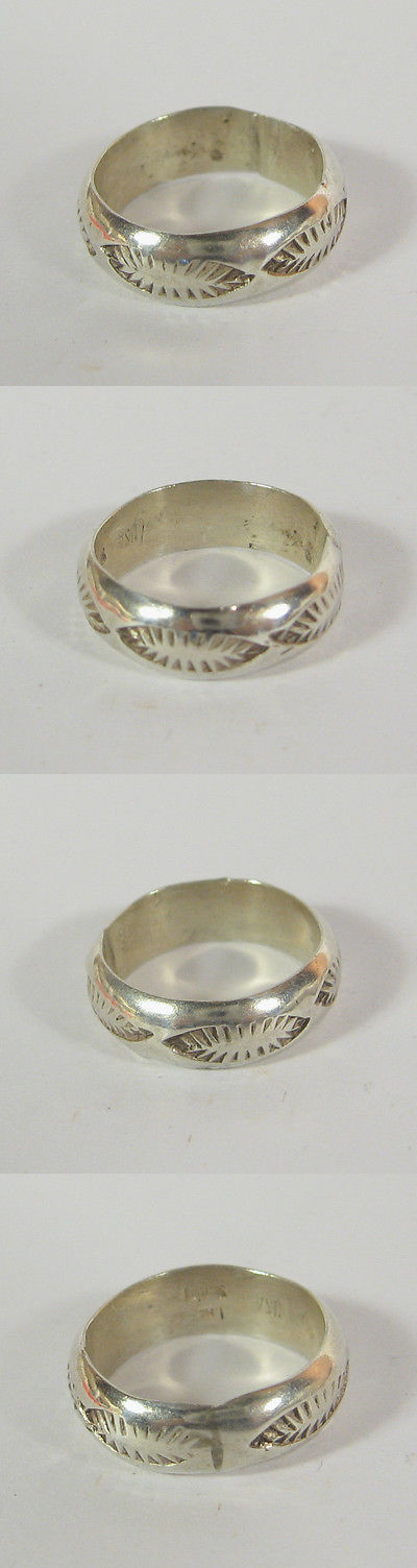Rings 98500: Navajo Stamped 925 Sterling Silver Ring Native American Usa Made Southwestern BUY IT NOW ONLY: $34.5