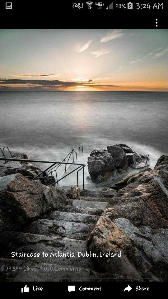 Staircase  to Atlantis. Dublin, Ireland