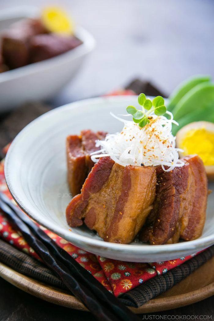 Photo of Braised Pork Belly (Kakuni) 角煮 • Just One Cookbook