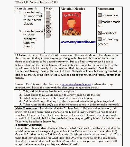 Mrs CrabtreeS Counseling Corner Sample Lesson Plan