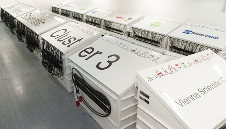 These Enclosures House The 2 020 Compute Nodes Of The Vienna