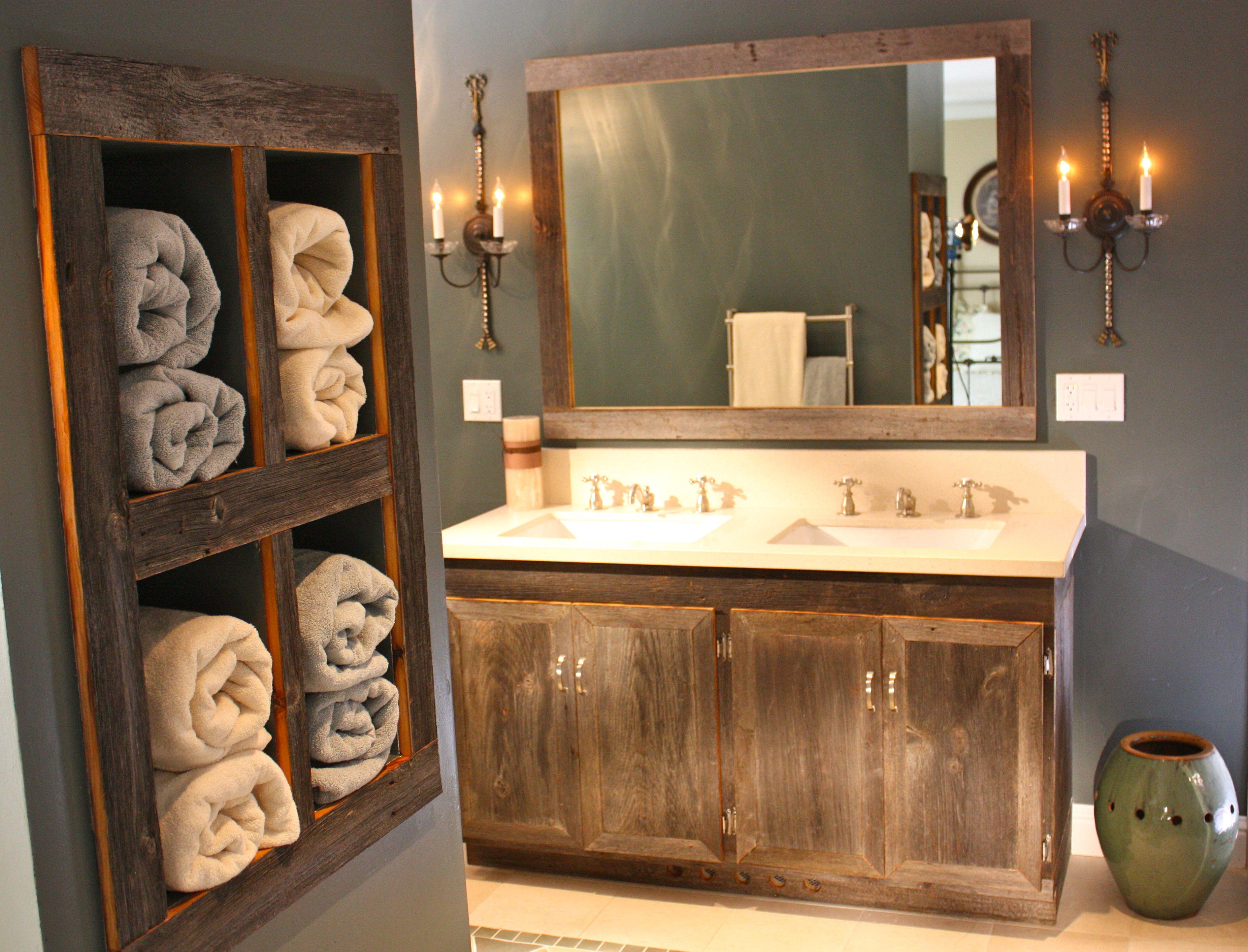 Salle de bain rustique: 100 idées déco salle de bain | Wooden frames ...