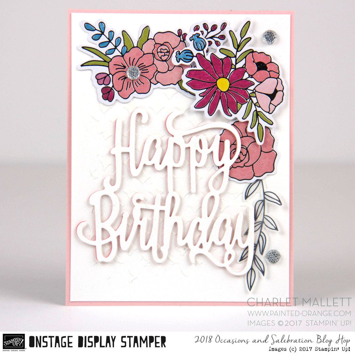 Wrap up on stage display stamper blog hop day 7 cards happy birthday card using cake soire collection products charlet mallett stampin up kristyandbryce Images