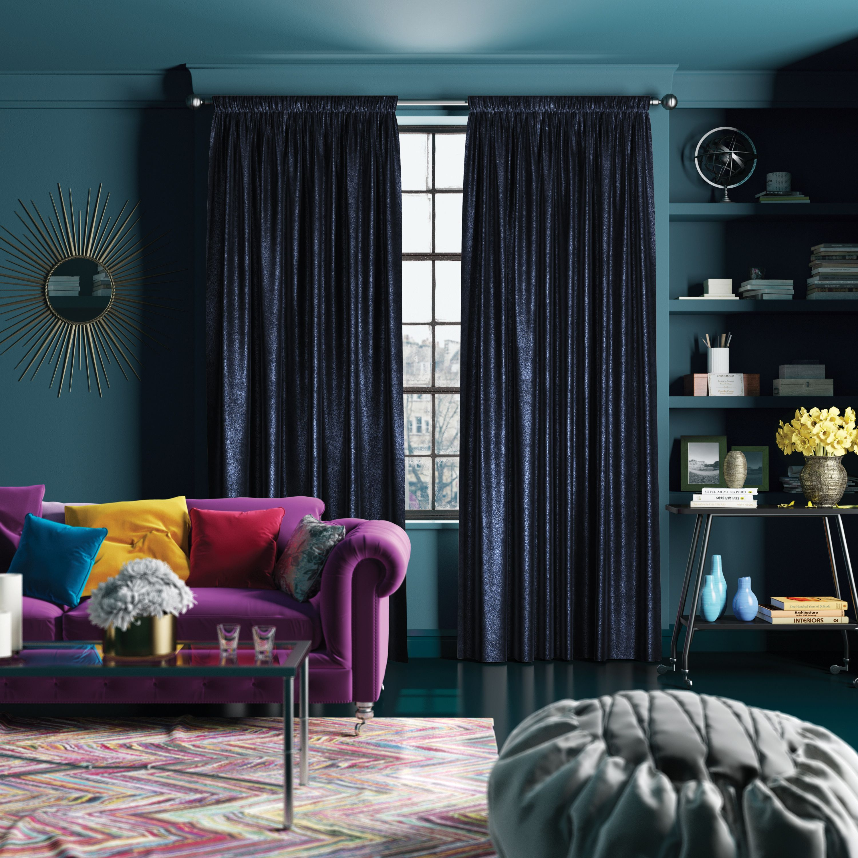 15 Inspiring Traditional Living Room Ideas Blue Curtains Living Room Velvet Curtains Living Room Dark Living Rooms #royal #blue #curtains #for #living #room