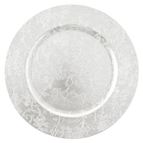 Silver Floral Plate Charger - Tableware - Collection - Christmas | Zara Home United States of  sc 1 st  Pinterest & Silver Floral Plate Charger - Tableware - Collection - Christmas ...