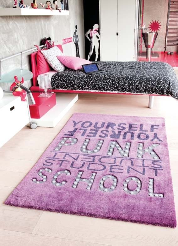 awesome tapis violet chambre fille photos - lalawgroup