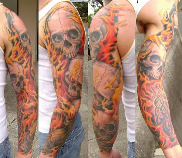 Harley motors and flames tattoo designs tattoos skull for Tattoo pictures of flames