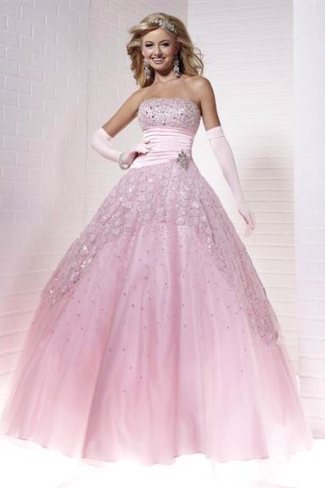 a96965a5834 Pink princess ball gown