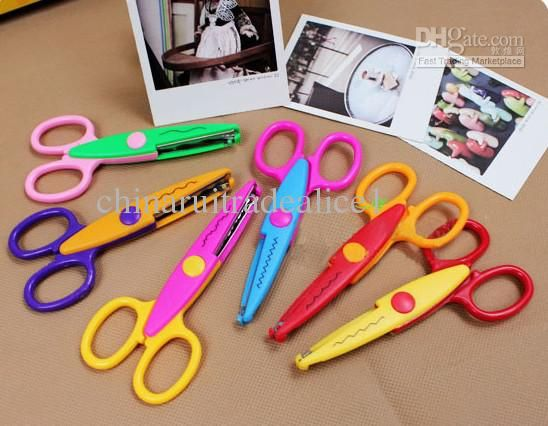 Cutting Supplies Reasonable Children Plastic Mini Safety Scissors Handmade Diy Photo Album Laciness Scissors Tesoura Paper Lace Diary Decoration
