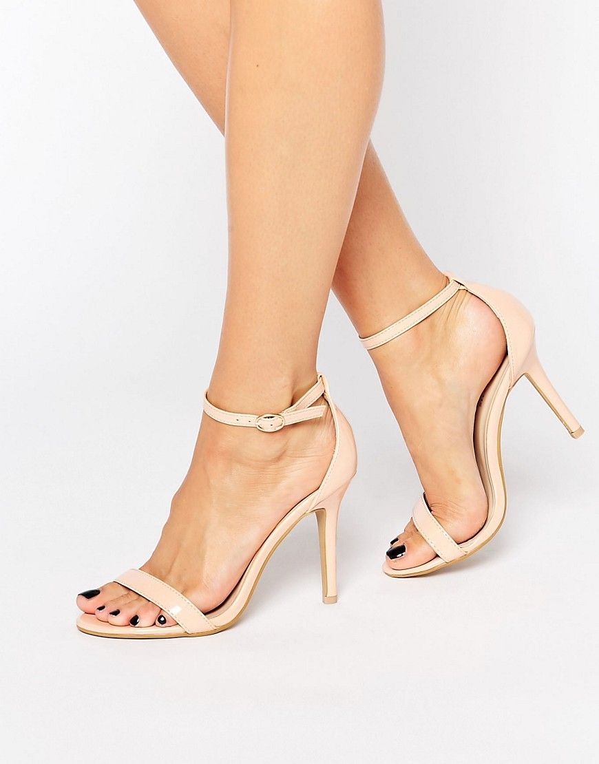 Sandalias de tacón alto Zapatos de fiesta con correa de tobillo con punta abierta W0VXGR