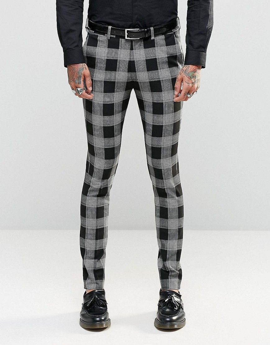 216872fed92f14 Super Skinny Suit Trousers in Tartan Check in 2019 | Suits | Skinny ...