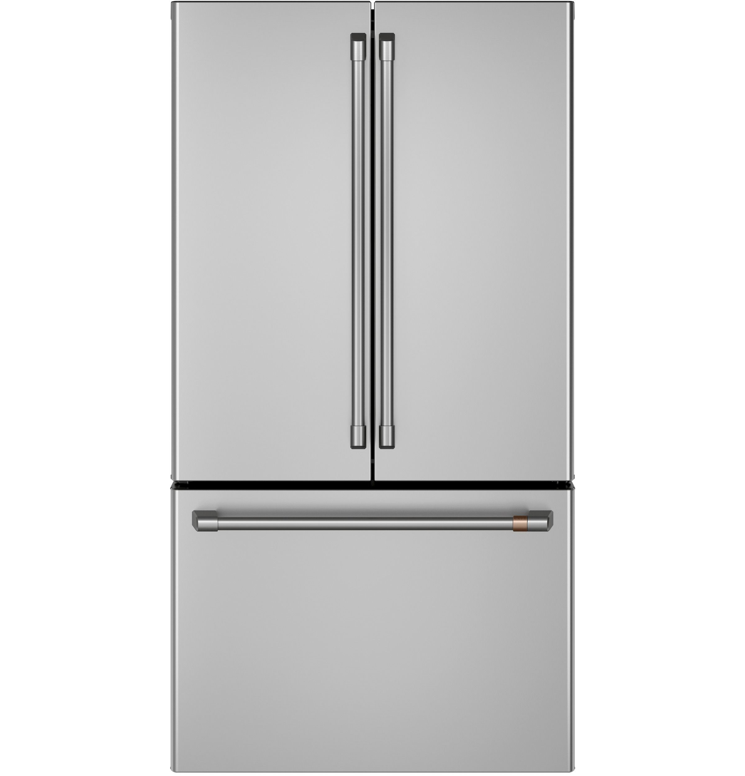 Cwe23sp2ms1 Overview Cafe Energy Star 23 1 Cu Ft Smart Counter Depth French Door Refrigerator In 2020 With Images Copper Kitchen Decor French Door Refrigerator Refrigerator