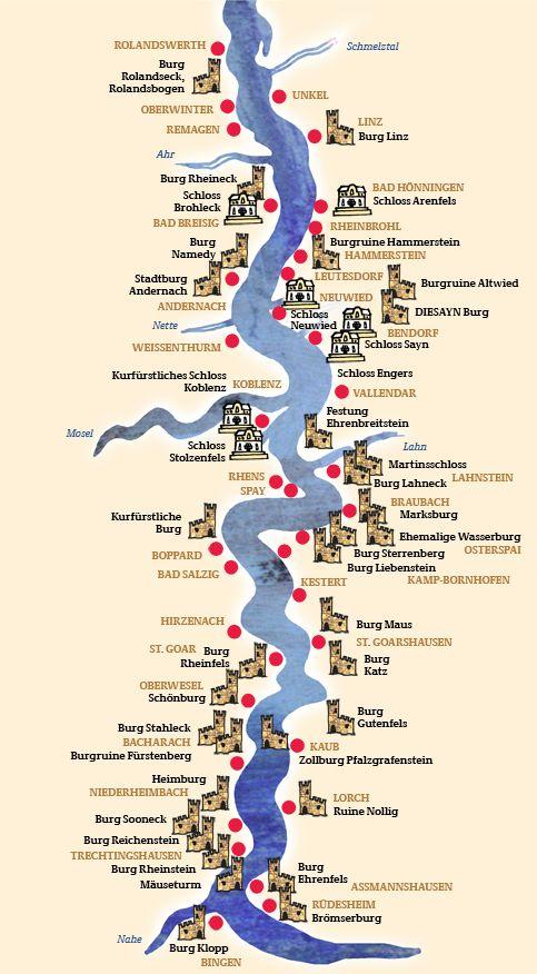 burgen deutschland karte Map Overview Castles | Deutschland burgen, Burgen und schlösser, Burg