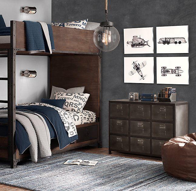 Best Industrial Locker Storage Bunk Bed Big Boy Bedrooms Boy 640 x 480