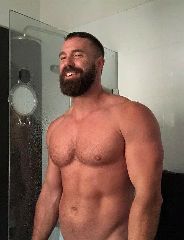 Bear beefy build gay strong