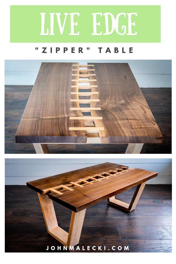 Custom Live Edge Table Diy With A Zipper River Live Edge Table Table Live Edge Furniture