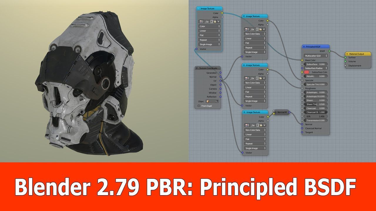 This is a Blender 2 79 video on the new built-in PBR shader
