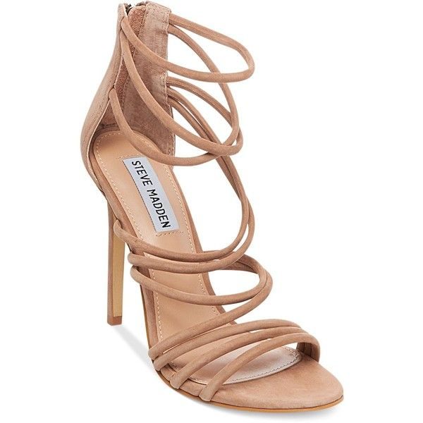 Steve Madden Women's Santi Strappy Sandals (145 CAD) ❤ liked on Polyvore  featuring shoes