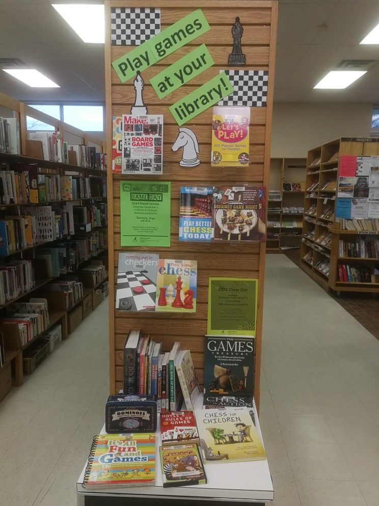 Board Game Library Display Library Signage Middle