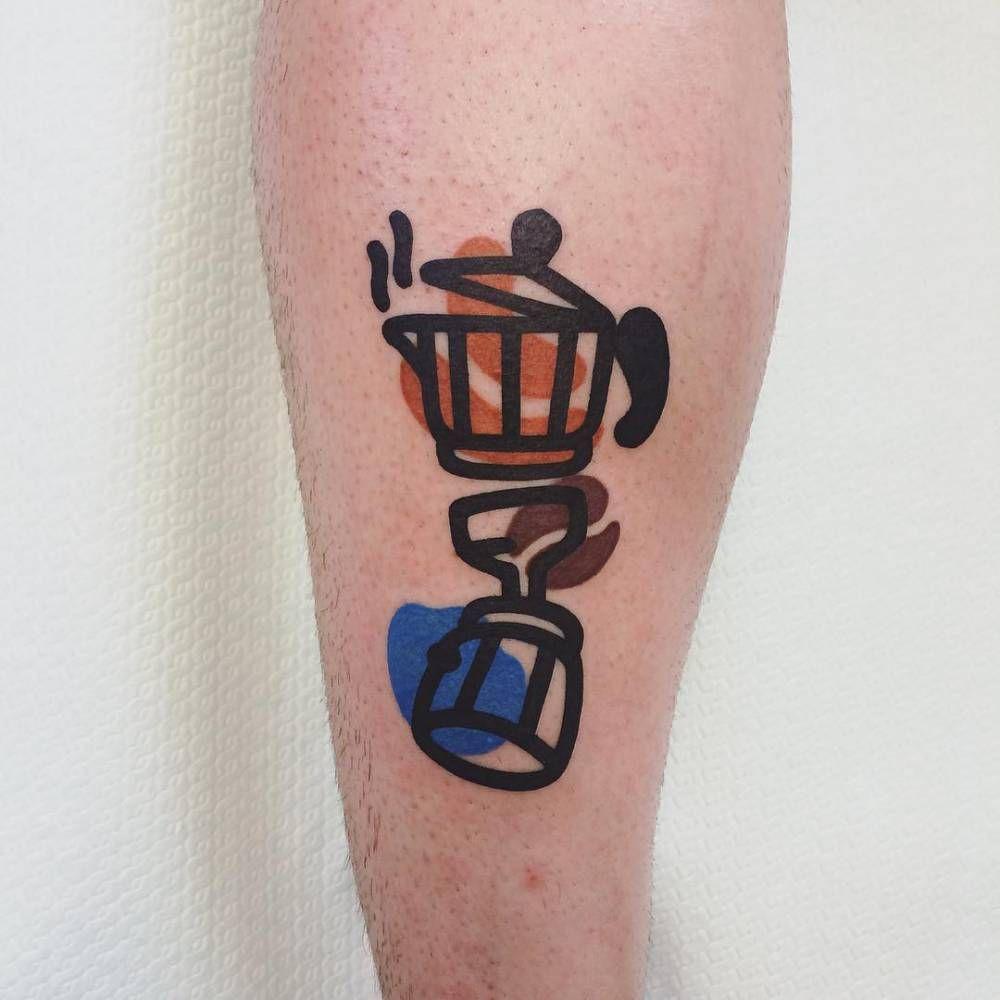 'Caffè destrutturato' tattoo by Mattia Mambo.
